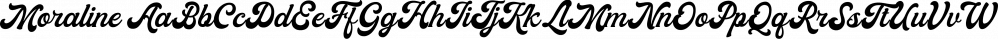 Moraline font family by Letterhend Studio