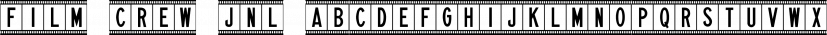 Film Crew JNL font family by Jeff Levine Fonts