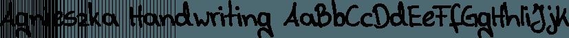 Agnieszka Handwriting font family by SoftMaker