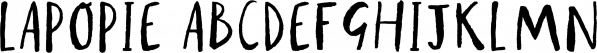 Lapopie font family by Hoopoe