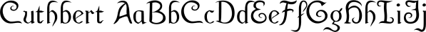 Cuthbert font family by Ingrimayne Type