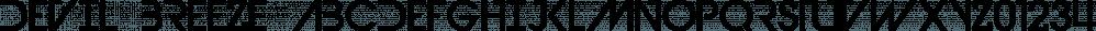 Devil Breeze font family by Weslo Fonts