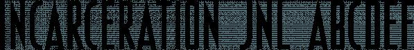 Incarceration JNL font family by Jeff Levine Fonts