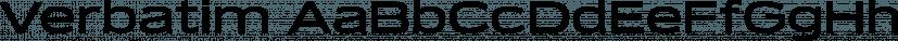 Verbatim font family by Paulo Goode