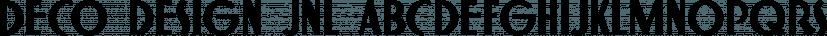 Deco Design JNL font family by Jeff Levine Fonts
