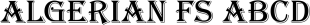 Algerian FS font family mini