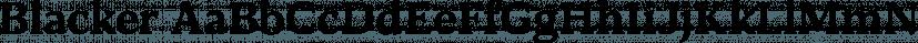 Blacker font family by Zetafonts