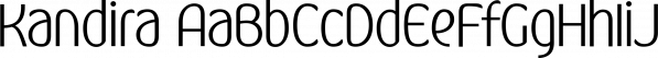 Kandira font family by Måns Grebäck