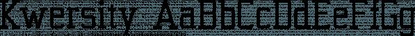 Kwersity font family by Ingrimayne Type