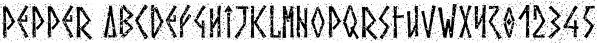 Pepper font family by Grummedia