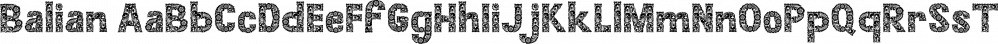 Balian font family by Alit Design