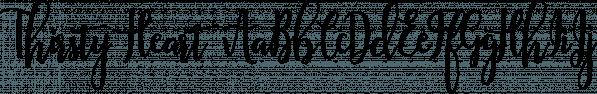 Thirsty Heart font family by Anastasia Dimitriadi