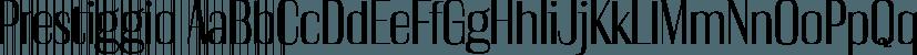 Prestiggio font family by Rekord