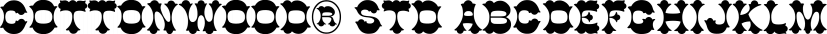 Cottonwood® Std font family by Adobe