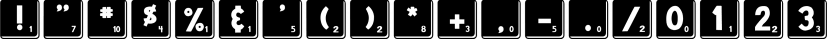 DJB Letter Game Tiles font family by Darcy Baldwin Fonts