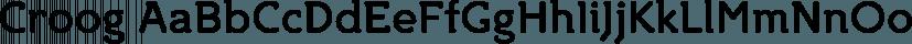 Croog font family by TipografiaRamis