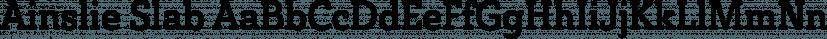 Ainslie Slab font family by Insigne Design