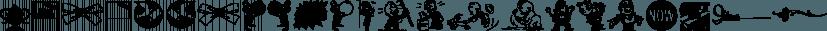 Letterpress Sorts JNL font family by Jeff Levine Fonts