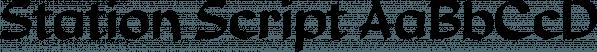 Station Script font family by SoftMaker