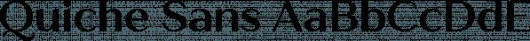 Quiche Sans font family by Adam Ladd