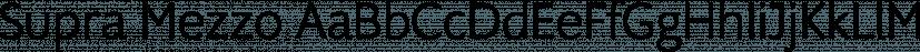 Supra Mezzo font family by Wiescher-Design