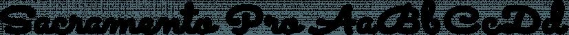 Sacramento Pro font family by Stiggy & Sands