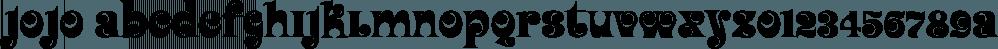 Jojo font family by Canada Type