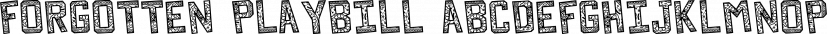 Forgotten Playbill font family by Lauren Ashpole