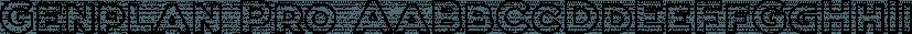 Genplan Pro font family by Thundertype