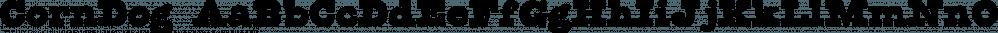 CornDog font family by Fonthead Design