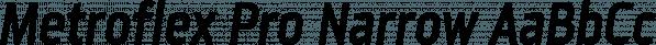 Metroflex Pro Narrow font family by GarageFonts