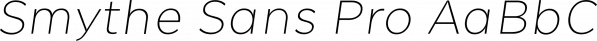 Smythe Sans Pro font family by Wordshape