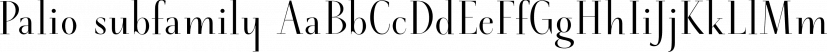 Palio subfamily font family by Eurotypo