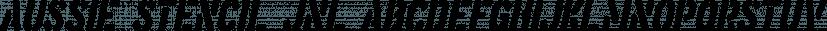 Aussie Stencil JNL font family by Jeff Levine Fonts