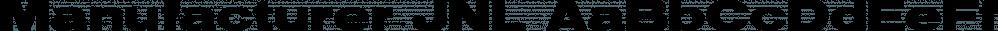 Manufacturer JNL font family by Jeff Levine Fonts