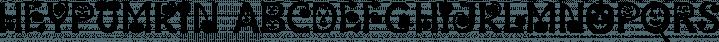 HeyPumkin font family by Ingrimayne Type