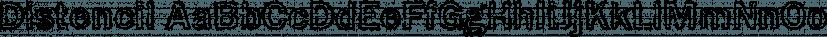 Distencil font family by FontSite Inc.
