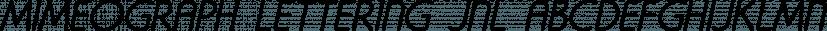 Mimeograph Lettering JNL font family by Jeff Levine Fonts