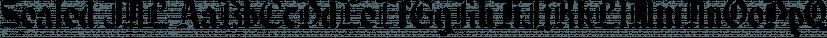 Sealed JNL font family by Jeff Levine Fonts