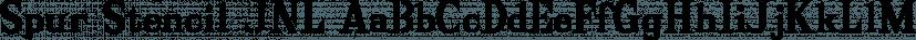 Spur Stencil JNL font family by Jeff Levine Fonts