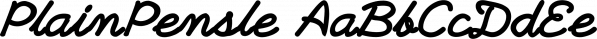 PlainPensle font family by Ingrimayne Type