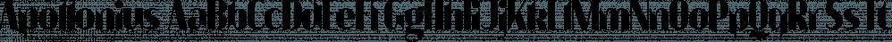 Apollonius font family by Typogama