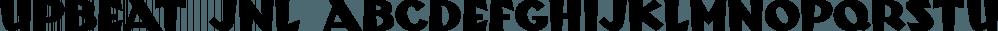 Upbeat JNL font family by Jeff Levine Fonts