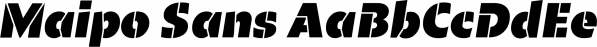 Maipo Sans font family by Compañía Tipográfica De Chile