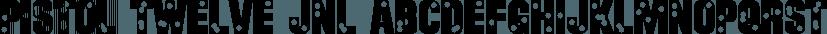 Pistol Twelve JNL font family by Jeff Levine Fonts