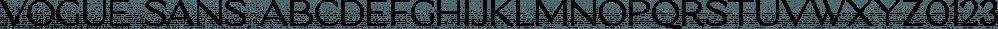Vogue Sans font family by Fenotype