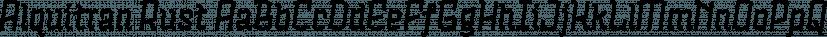 Alquitran Rust font family by Rodrigo Typo