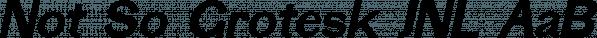 Not So Grotesk JNL font family by Jeff Levine Fonts