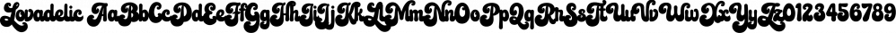 Lovadelic font family by Aiyari