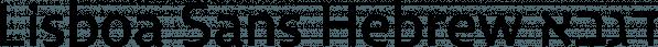 Lisboa Sans Hebrew font family by Vanarchiv